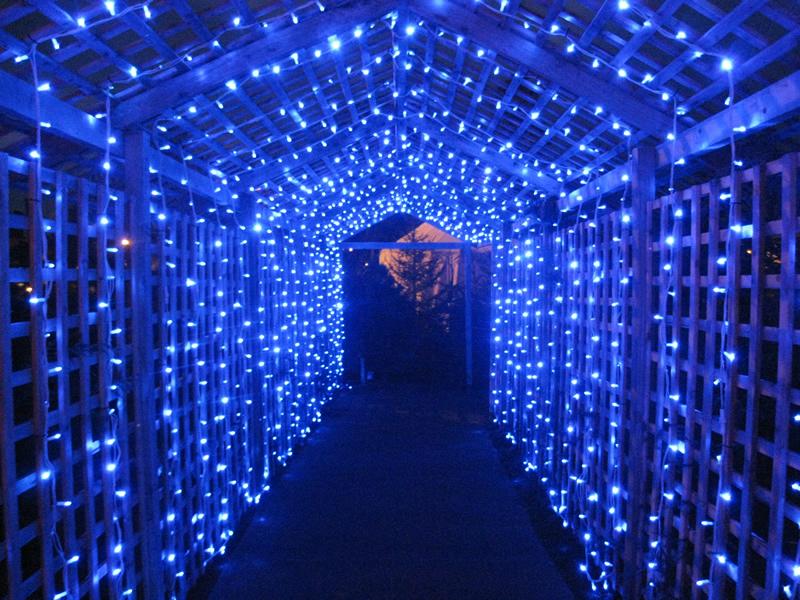 Вход в рождественский парк, замок Ворик