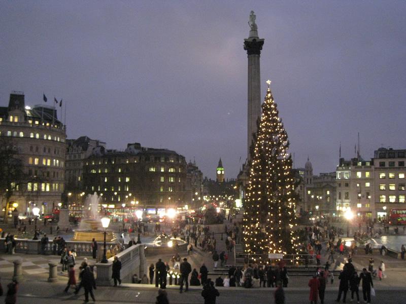 Английское Рождество: Трафальгарскя площадь